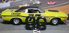 """XPG"" 1/32 URETHANE SLOT CAR TIRES 2pr Tuning Set fits Scalextric Challenger"