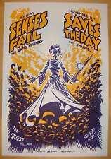 2005 Senses Fail & Saves the Day - Silkscreen Concert Poster by DWITT