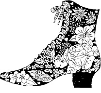 Unmounted Rubber Stamps, Flowers, Boots, Rubber Stamp, Floral Victorian Boot