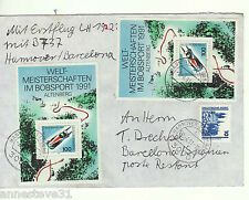 A LOVELY 1991 RETURN FIRST FLIGHT COVER FROM GERMANY TO BARCELONA  LH526