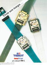 PUBLICITE ADVERTISING 086  1984  les montres Tissot Twotimer