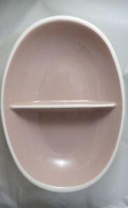 Vintage HARKERWARE Divided Server Dish. Pink Ivory Cream. SPRINGTIME. Excellent.
