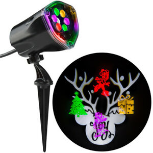 Disney Magic Holiday Mickey & Minnie Fantastic Flurry + Silhouette LED Projector