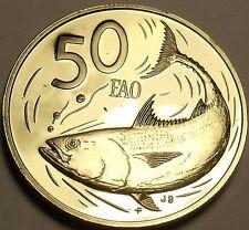 Cook Islas 1979 Fao 50 Centavos Raro Prueba ~ 4,058 Minted ~ Bonito Pez