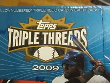 2009 Topps Triple Threads Baseball Factory Sealed Box (S2) 2 mini boxes