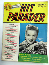 HIT PARADER Magazine DEC. 1954 JUDY GARLAND song lyrics 50s Top 40 POP w