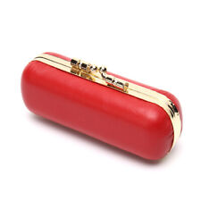 Women Genuine Leather Lipstick Case Fashion Make Up Beauty Mirror Comestic Bog