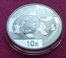 2008 China Silver Panda 1 Oz 10 Yuan BU moneda