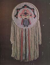Vtg 1970's Macrame Weaving Hanging Wall Art Pattern Visions Craft Book Mm351