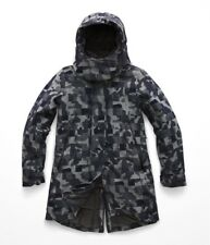 The North Face Women's CRYOS Wool Blend Down Parka Gore-tex Jacket Black Camo M