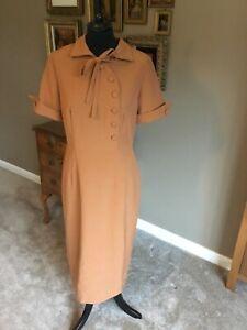 Bettie Page ladies dress size XL caramel brown
