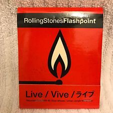 ROLLING STONES FLASHPOINT Promotional Oversized Matchbook 1991 Steel Wheels Tour