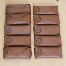 LOT OF 10 Rare Ray-Ban Brown Cases For Sunglasses