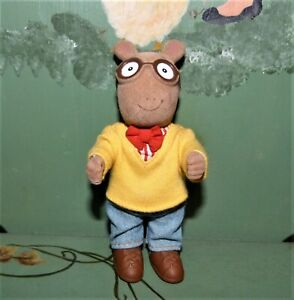 """ARTHUR Posable Toy Doll 5"""" Eden Marc Brown Fuzzy Material w/ Clothes & Shoes"""