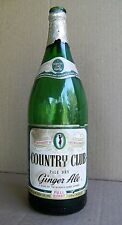 Country Club Ginger Ale, Full Quart bottle., Springfield, MA  Paper Labels, 1948
