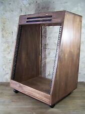 Solid Wood 19'' 12U angled rack case, wooden recording studio furniture cabinet
