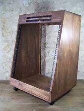 """Madera Maciza 19"""" 12U Estuche de rack en ángulo, armario de muebles de madera estudio de grabación"""