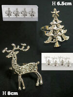 Christmas Metal Napkin Ring Holder Dinner Party Xmas Table Decoration Festive
