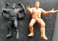 UK Exclusive Original WCW Galoob Dustin Rhodes & Sting Wrestling Figures Hasbro