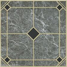 "45-Pack Home Impressions 12"" x 12"" Blue and Gold Vinyl Floor Tile"