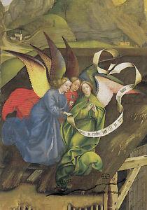 Kunstpostkarte - Robert Campin:  Geburt Christi