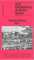 OLD ORDNANCE SURVEY MAP CRYSTAL PALACE 1871 PENGE UPPER SYDENHAM WELLS ROAD