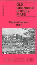 OLD ORDNANCE SURVEY MAP CRYSTAL PALACE 1871