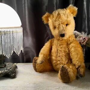 "20"" ANTIQUE 1940s CHILTERN HUGMEE TEDDY BEAR"