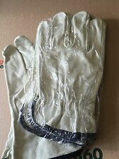 2 Pairs Cowhide Leather Work Gloves W/ Keystone Thumb Size Xlarge