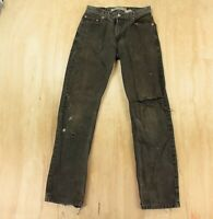 destroyed LEVI'S 505 fit denim jeans 30 x 33 (30 x 34 tag) ripped faded black