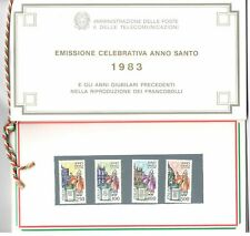 FOLDER ANNO SANTO 1983 CON CORDONCINO E 4 FRANCOBOLLI