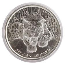 2017 $1 1oz Silver Ghana African Leopard .999 BU (Proof-Like)