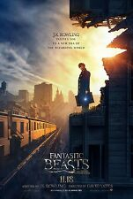 """FANTASTIC BEASTS AND WHERE TO FIND THEM 2016 Adv DS 2 Sided 27x40"""" Movie Poster"""