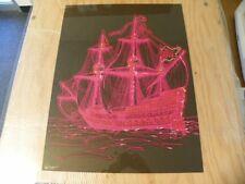 """Vintage Poster """"Ship of Love"""" C267 Signed George Stowe CR1971 Black Light NOS"""