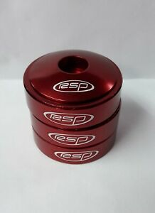 RSP Headset Spacers with Top Cap 1.1/8 Red