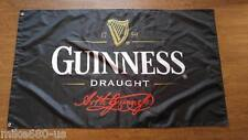 New Black Flag For Guinness draught beer Flags Bar promotions 3ft x 5ft 90x150cm