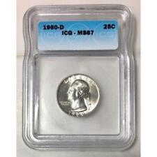 1960 D Washington Quarter ICG MS67 #190174