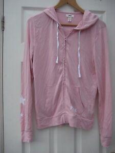 Genuine Women's Victoria's Secret PINK Small Pink Zip Up Hoodie Sweatshirt Top