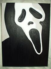 Canvas Painting Scream Movie Mask Art 16x12 inch Acrylic