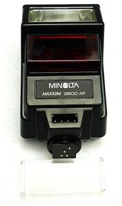 Minolta Maxxum 2800AF Shoe Mount Flash with Wide Angle Attachment -- TESTED