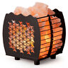 CRYSTAL DECOR Natural Himalayan Wired Cubed Salt Lamp Basket w/ Dimmable Cord