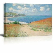 """Path Through The Corn At Pourville by Claude Monet Giclee Canvas - 16"""" x 24"""""""