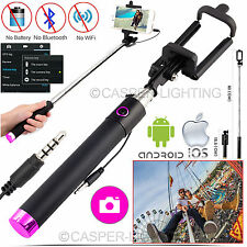 Telescopic 3.5mm Wired Selfie Stick & Foldable Smartphone Holder For All Phones