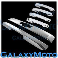 Chevy Tahoe+Suburban Chrome Hatch Top Liftgate Molding+Trunk+4 Door Handle Cover