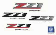 2014-2018 Chevy Silverado Z71 Grille Grill Emblem PLASTIC LETTERS Set Black