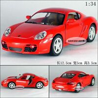 "Kinsmart 1:34 5"" 1/34 Porsche Cayman S Sport Car Diecast Alloy Model Car Red"