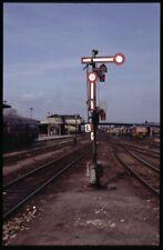 35mm slide+© DR Deutsche Reichsbahn semaphore signal Halberstadt Germany 1992ori