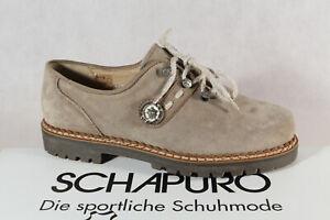 Schapuro Ladies Costume Dress Shoes Brogue Low Shoe Leather Beige