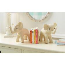 Mud Pie E1 The Kids Shoppe Baby Girl Nursery Decor Ivory Elephant Bookend