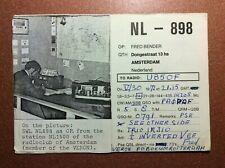 Postcard with photo 1972 Radioclub AMSTERDAM Nederland. QSL  NL - 898 Radio Card